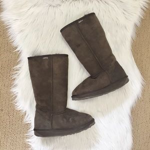 Emu Brown Sheepskin Tall Boots